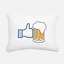 Like Beer Social Parody Rectangular Canvas Pillow