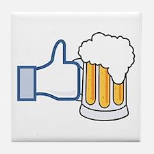 Like Beer Social Parody Tile Coaster