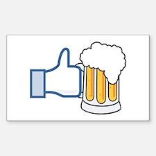 Like Beer Social Parody Decal