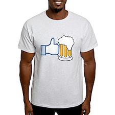 Like Beer Social Parody T-Shirt