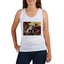 Santa's Therapy Dog (Lab-C) Women's Tank Top