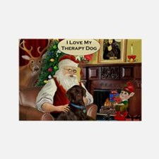 Santa's Therapy Dog (Lab-C) Rectangle Magnet