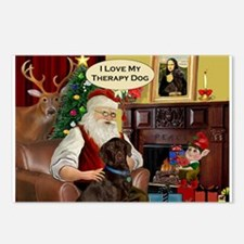 Santa's Therapy Dog (Lab-C) Postcards (Package of