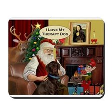 Santa's Therapy Dog (Lab-C) Mousepad