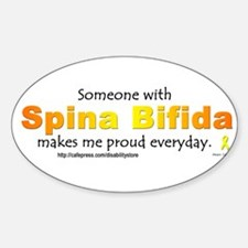 """Spina Bifida Pride"" Oval Decal"