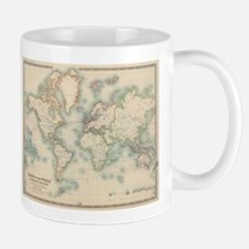 Vintage Map of The World (1911) Mugs