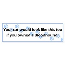 Your Car Bloodhound Bumper Bumper Sticker