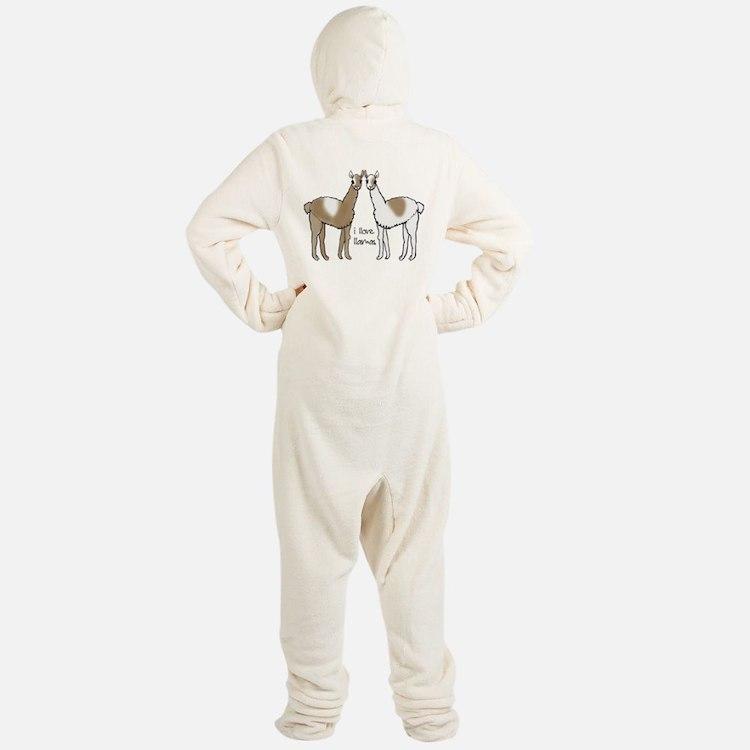I Llove Llamas Footed Pajamas