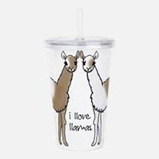 i llove llamas Acrylic Double-wall Tumbler