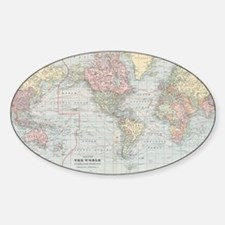 Vintage World Map (1901) Decal
