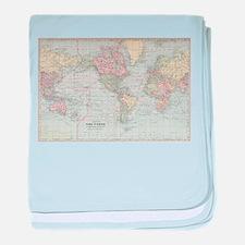 Vintage World Map (1901) baby blanket