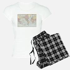 Vintage World Map (1901) Pajamas