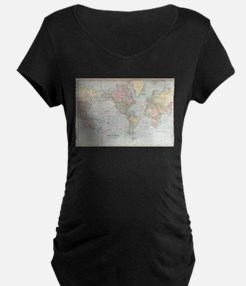 Vintage World Map (1901) Maternity T-Shirt