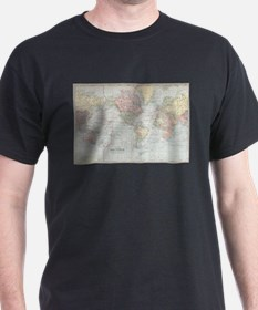 Vintage World Map (1901) T-Shirt