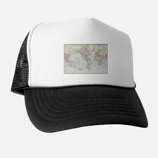 Vintage World Map (1901) Trucker Hat
