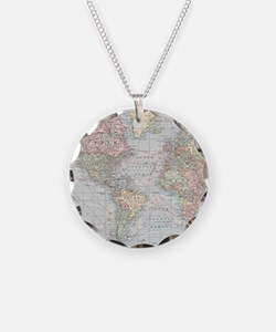 Vintage World Map (1901) Necklace