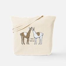 i llove llamas Tote Bag