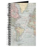 Map Journals & Spiral Notebooks