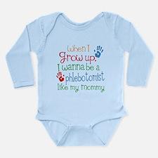 Phlebotomist Like Momm Long Sleeve Infant Bodysuit