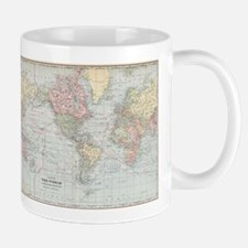 Vintage World Map (1901) Mugs