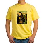 Mona's Therapy Dog (Lab-C) Yellow T-Shirt