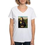 Mona's Therapy Dog (Lab-C) Women's V-Neck T-Shirt
