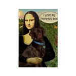 Mona's Therapy Dog (Lab-C) Rectangle Magnet