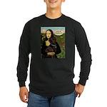 Mona's Therapy Dog (Lab-C) Long Sleeve Dark T-Shir