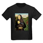 Mona's Therapy Dog (Lab-C) Kids Dark T-Shirt