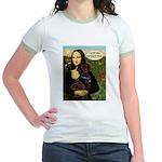 Mona's Therapy Dog (Lab-C) Jr. Ringer T-Shirt