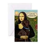Mona's Therapy Dog (Lab-C) Greeting Cards (Pk of 2