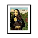 Mona's Therapy Dog (Lab-C) Framed Panel Print