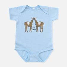 Twins cute llamas Body Suit