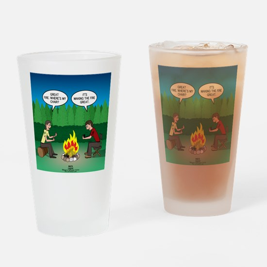 Great Campfire Drinking Glass
