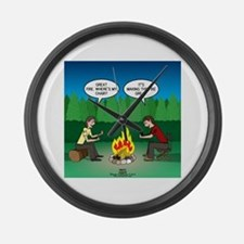 Great Campfire Large Wall Clock