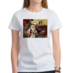 Santa's Therapy Dog (Lab-Y) Women's T-Shirt