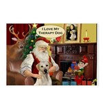 Santa's Therapy Dog (Lab-Y) Postcards (Package of