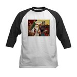 Santa's Therapy Dog (Lab-Y) Kids Baseball Jersey