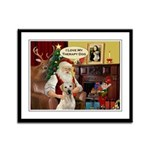Santa's Therapy Dog (Lab-Y) Framed Panel Print