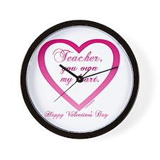 Teacher ~ You Own My Heart Wall Clock