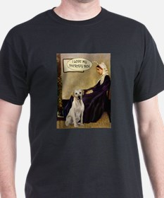 Mom's Therapy Dog (Lab-Y) T-Shirt