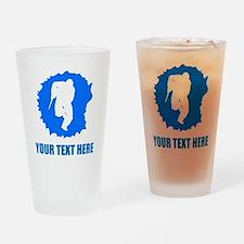 Blue Paintball Player Splatter Drinking Glass