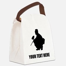 Paintball Player Silhouette Canvas Lunch Bag
