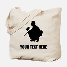 Paintball Player Silhouette Tote Bag