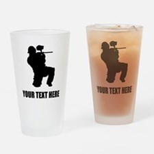 Paintball Player Silhouette Drinking Glass