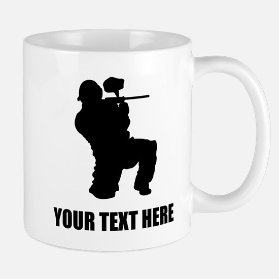Paintball Player Silhouette Mugs