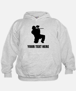 Paintball Player Silhouette Hoodie