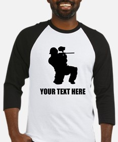 Paintball Player Silhouette Baseball Jersey