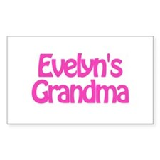 Evelyn's Grandma Rectangle Decal