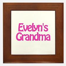 Evelyn's Grandma Framed Tile